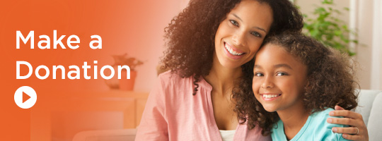 Make a Donation - picture of a mother and daughter